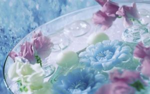 Декор панно Спа голубой 5